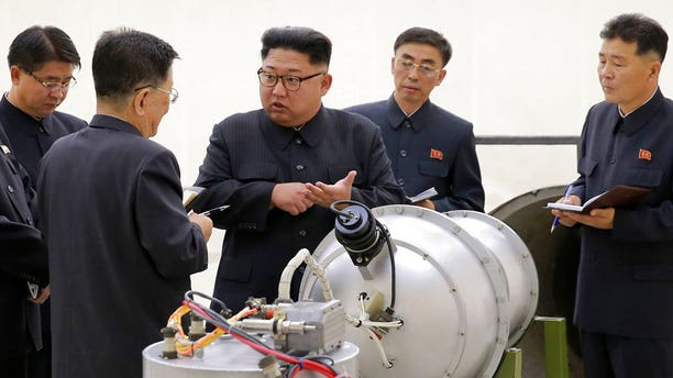 The photo shows Kim Jong Un after the regime carried out its sixth nuclear test, reportedly a hydrogen bomb.