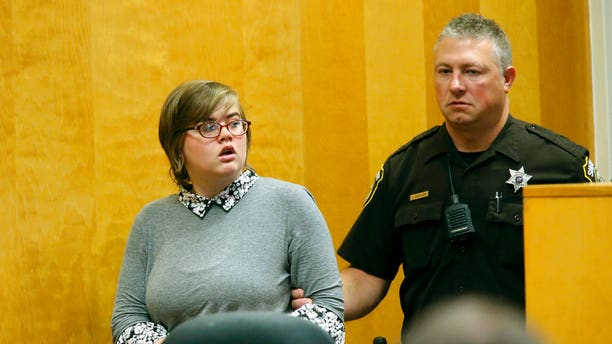 Morgan Geyser (pictured) pleaded guilty to first-degree intentional homicide with the agreement that she isn't criminally responsible and shouldn't go to prison for her role in Leutner's stabbing.