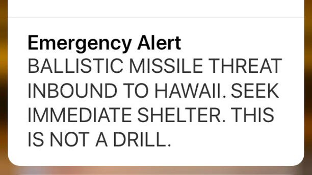 The alert was sent to people in Hawaii on Jan. 13 and caused mass panic and fear.