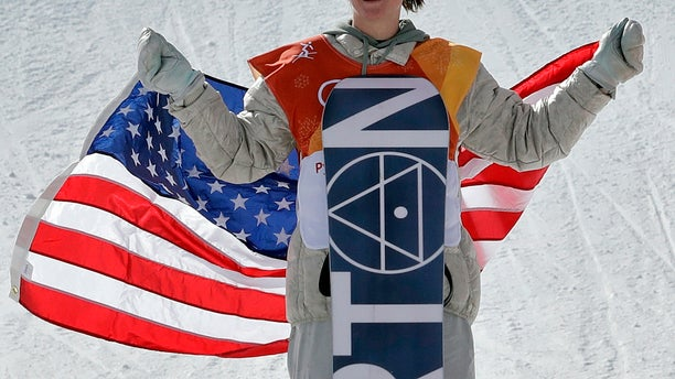 Red Gerard, of the United States, smiles after winning gold in the men's slopestyle final at the 2018 Winter Olympics in Pyeongchang, South Korea.