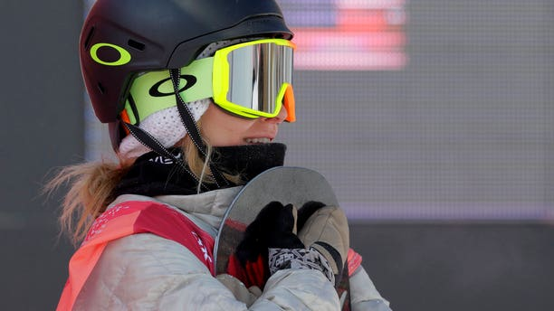 Jamie Anderson won silver during the women's big air snowboarding event.