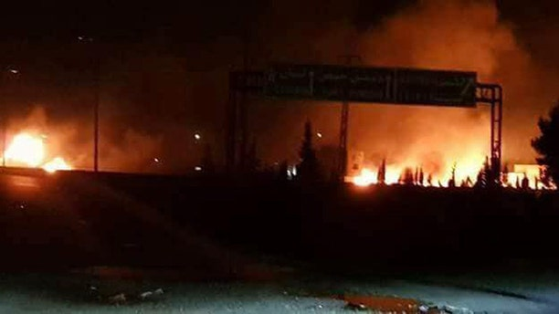 Western intelligence sources said there was an attack on an Iranian military compound, located about 10 miles south of Damascus.