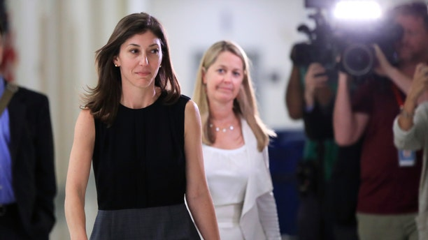 Former FBI lawyer Lisa Page leaves following an interview with lawmakers behind closed doors on Capitol Hill, July 13, 2018.