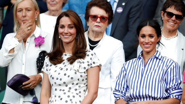 Meghan Markle and Kate Middleton pictured here in September.