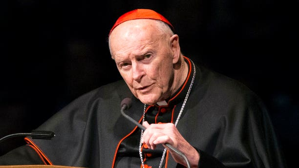 Ex-Cardinal Theodore McCarrick, pictured in 2015; Francis accepted McCarrick's resignation as cardinal last month, after a church investigation determine an accusation he sexually abused a minor was credible