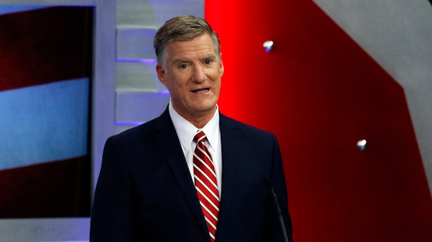 Republican hopeful for New Hampshire's 1st Congressional District Andy Sanborn speaks during a debate.
