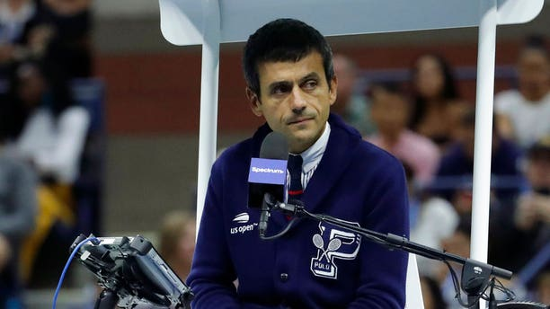"""Serena Williams called chair umpire Carlos Ramos, pictured here, a """"thief."""""""