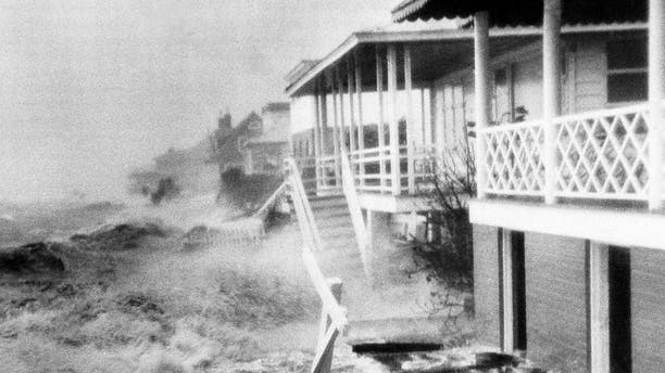 In this Oct. 15, 1954 file photo, Hurricane Hazel destruction is seen in Morehead City, N.C.