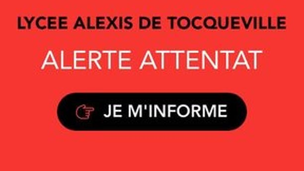 The cellphone alert from French officials.