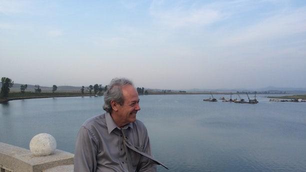 Rick Downes at the Taedong River during his visit to North Korea.
