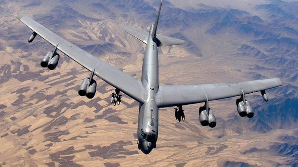 The behemoth B-52 Stratofortress is the biggest bomber that the Air Force flies -- so big that it takes 32 airmen more than 12 hours to wash one.
