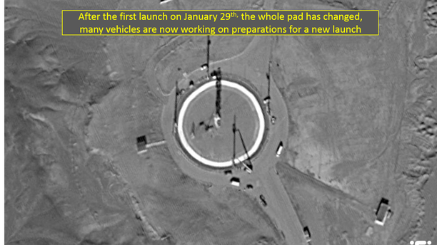 Satellite image from ImageSat International showing the launchpad.