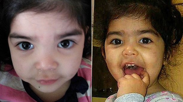 """""""I [went to] pick up my daughter yesterday and saw a red mark in between her eyebrows,"""" Alyssa Salgado said on Facebook."""