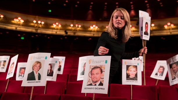 Feb. 11, 2016. Preparations are well underway for the annual star-studded event the British Academy Films Awards (BAFTA).