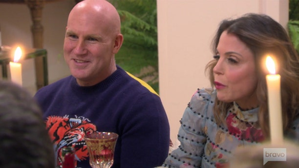 "Dennis Shields, left, appears with Bethenny Frankel in a scene from the ""Real Housewives of New York City."""