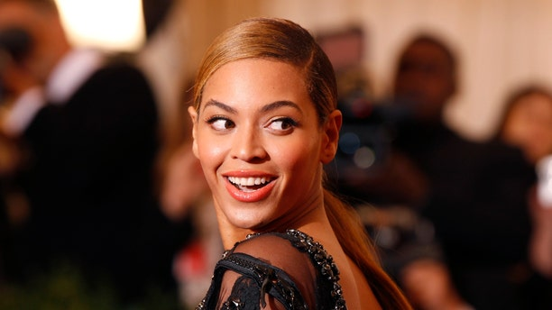 May 7, 2012. Singer Beyonce arrives at the Metropolitan Museum of Art Costume Institute Benefit in New York.