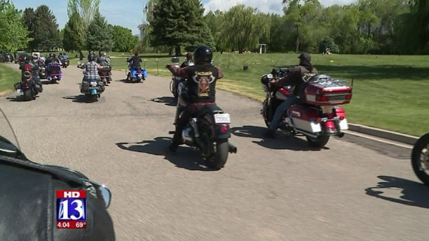 A group of Bikers formed a funeral procession for a Utah boy who drowned in a river earlier this month.