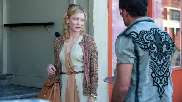 "This image released by Sony Pictures Classics shows Cate Blanchett in a scene from the film,""Blue Jasmine."""
