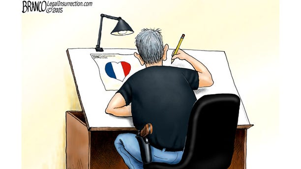 "Antonio Branco's tribute is entitled ""We are all cartoonists now."""