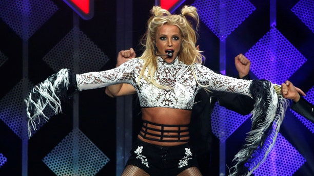 Britney Spears showed off her toned body on Instagram.