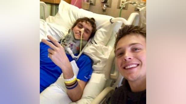 Meister (left) is also a brain cancer survivor.