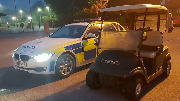 Police believe the golf cart was stolen from a club less than a mile away from the McDonald's.