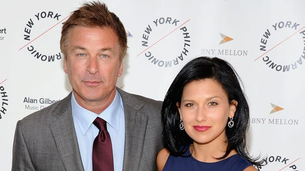 March 26, 2012:  Alec Baldwin and Hilaria Thomas attend the 2012 New York Philharmonic Spring gala at Avery Fisher Hall Grand Promenade in New York City.