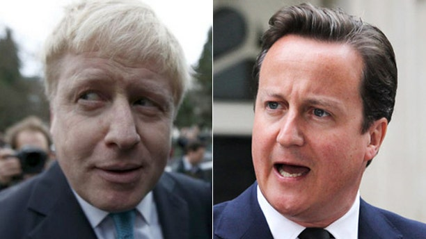 """Boris Johnson, (l.), could replace Cameron, (r.), as prime minister, after his """"leave"""" side won."""