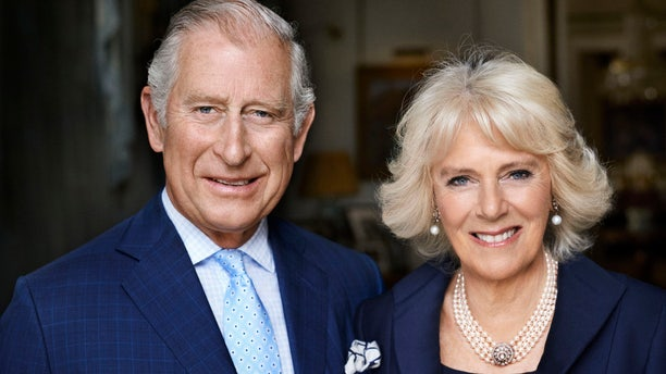 Britain's Prince Charles and his wife Camilla, Duchess of Cornwall, in Clarence House, London.