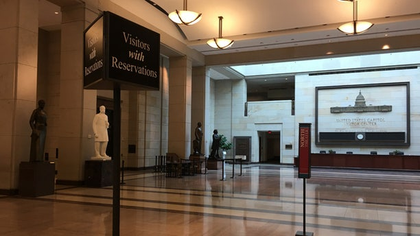 The Capitol Visitor Center is empty, as the government shutdown entered its third day.