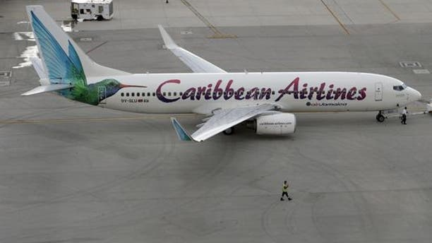 A Caribbean Airlines jet in Miami. (AP Photo/Lynne Sladky)