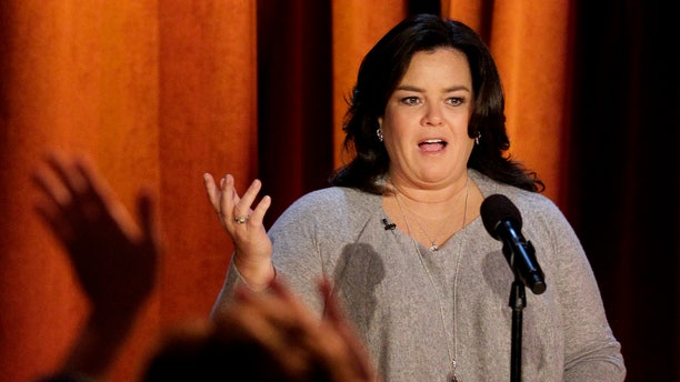 """FILE - In this Thursday, Oct. 6, 2011, file photo, Rosie O'Donnell talks to the audience during a taping of her show in Chicago. """"The View"""" announced Monday, Jan. 27, 2014, that O'Donnell will be a guest on the daytime gabfest on Feb. 7. (AP Photo/Nam Y. Huh, File)"""
