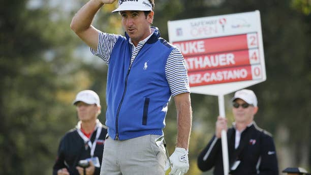 FILE - In this Oct. 13, 2016, file photo, Gonzalo Fernandez-Castano, of Spain, follows his shot from the second tee of the Silverado Resort North Course during the first round of the Safeway Open PGA golf tournament in Napa, Calif. Fernandez-Castano moved his family from Spain to play the PGA Tour card, lost his card, and spent a year in the minors working to get it back. (AP Photo/Eric Risberg, File)