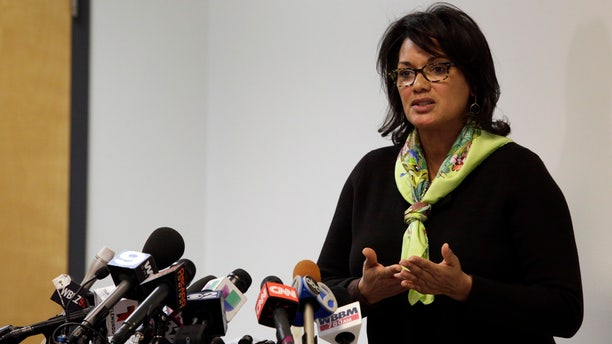Jan 4, 2016: Sharon Fairley, acting head of the Independent Police Review Authority, speaks at a news conference in Chicago (AP Photo/Teresa Crawford)