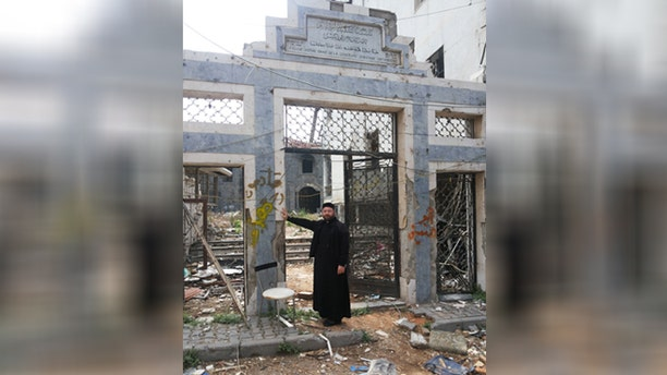 Remains of St. Mary's, Syrian Orthodox church in Homs, Syria. (Aid to the Church in Need-US)