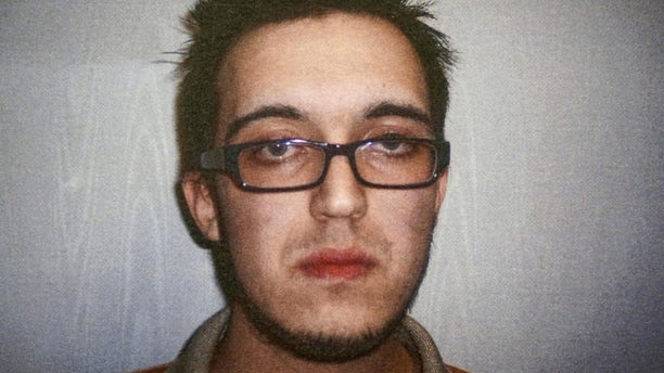 April 14, 2014: This booking photo released by the North Berkshire District Court in North Adams, Mass., shows Alexander Ciccolo, charged with drunken driving. Authorities said Ciccolo, the son of a Boston police captain, was arrested July 4, 2015 in Adams, Mass., and is accused of plotting to detonate pressure-cooker bombs at an unidentified university and to broadcast the killings of students live online to show his support for ISIS.