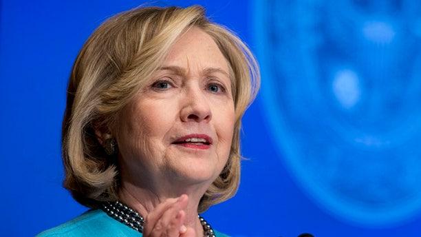 Dec. 3, 2014: Former Secretary of State Hillary Rodham Clinton speaks in Gaston Hall at Georgetown University in Washington.