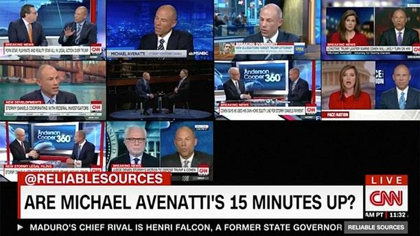 Attorney Michael Avenatti was on CNN 74 times from March 7 through March 15, 2018.