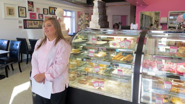 Jan. 20, 2015: Bakery owner Marjorie Silva stands for a photo inside her own Azucar Bakery, in Denver.