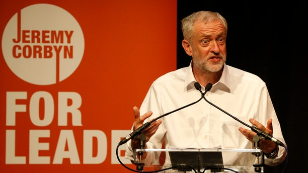Aug 14, 2015: Labor Party leadership candidate Jeremy Corbyn speaks at a rally in the Edinburgh International Conference Center in Edinburgh, Scotland.