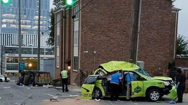 The taxi cab driven by Hizkias Woldegabrie, 55, who died in the Oct. 11 crash.