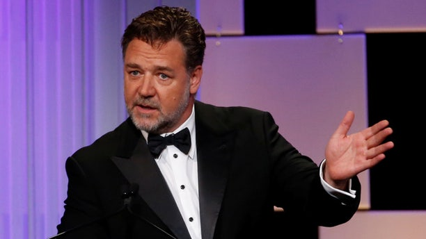 Russell Crowe at the 30th Annual Cinematheque Awards on October 14, 2016.