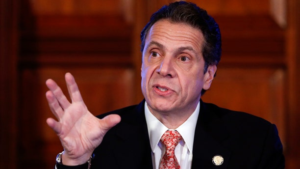 Dec. 17, 2014: New York Gov. Andrew Cuomo talks during a cabinet meeting in Albany, N.Y.