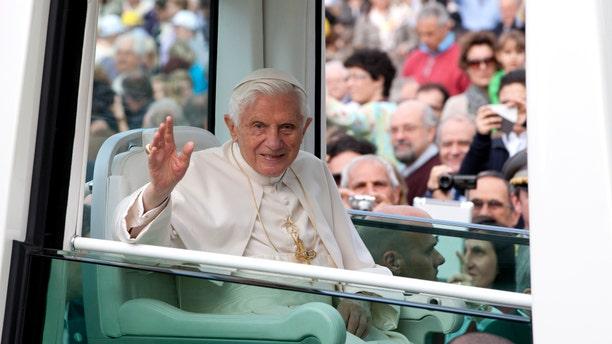Pope Benedict XVI in a 2012 file photo.