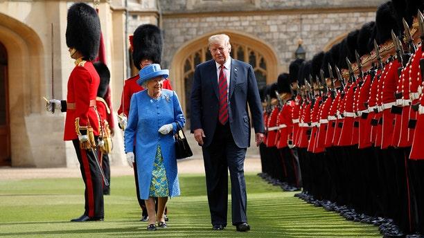 President Trump met Queen Elizabeth II earlier this month at Windsor Castle.