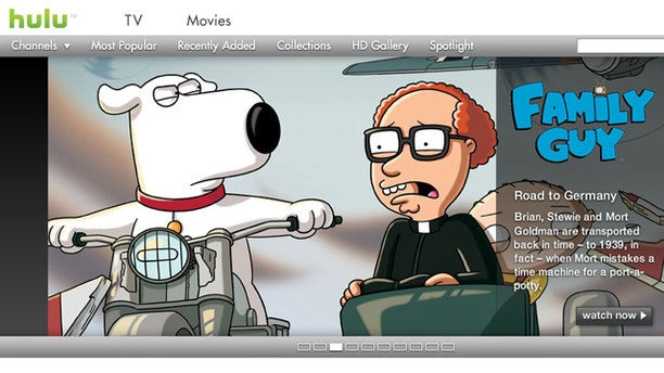 Popular Web site Hulu lets you watch television such as the animated series Family Guy shows over the Internet.