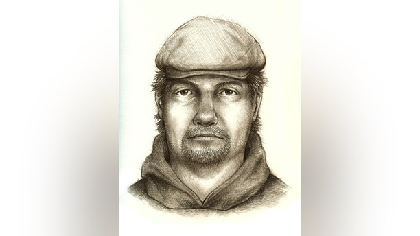 A composite sketch of a suspect in the murders of two teenage girls in Indiana.
