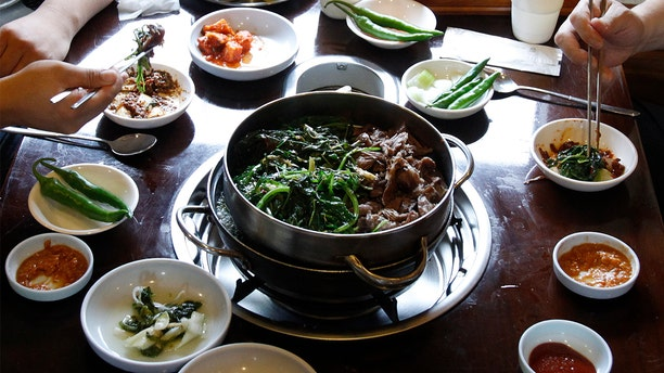 Dishes containing dog meat, like the one seen here in a 2011 photo taken at a restaurant in Seoul, are thought by Vietnamese citizens to help increase stamina, the AP reports.