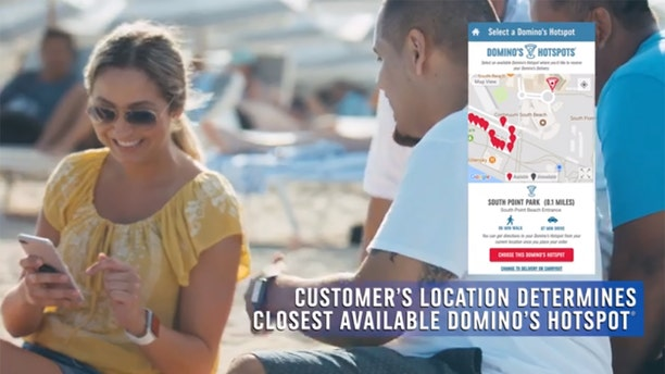 "Customers who order via the chain's online platforms are now given the option of getting their pizza delivered to a ""Hotspot,"" or a pre-determined area where a driver will meet them with their pizzas."