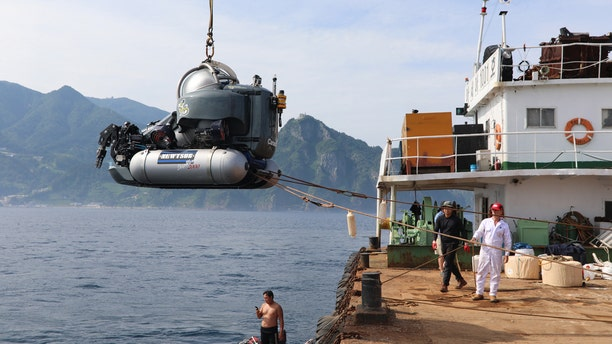 Subs were used to discover the wreck in the Sea of Japan